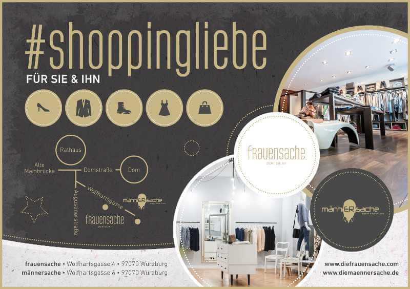 Shoppingliebe Männersache Flyer